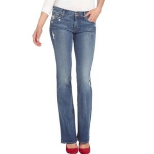 KORAL 12 Month Destroyed Stretch Bootcut Jeans 27